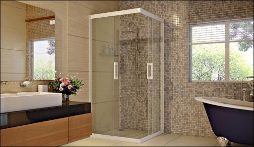 Vách kính phòng tắm vừa có tính ứng dụng cao, vừa sang trọng, hiện đại