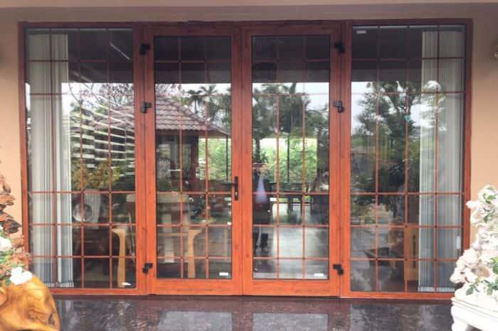 Cửa nhôm Xingfa giả gỗ