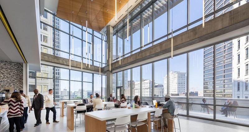 vach kinh cuong luc mat dung 2 - Tác động vách kính cường lực mặt dựng đến tòa nhà trong mùa nắng nóng