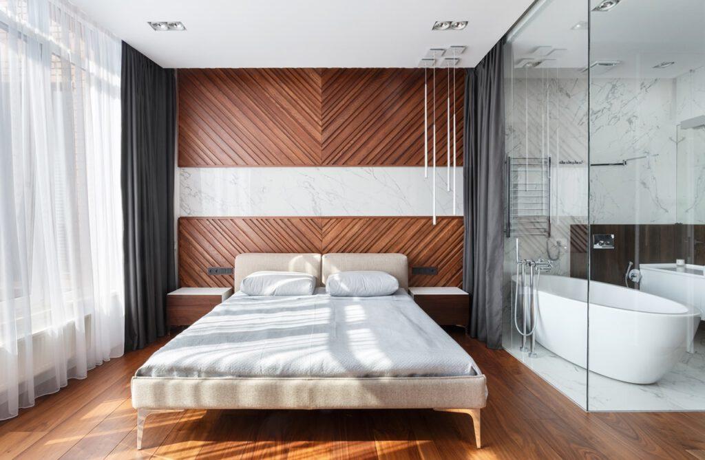 vach kinh phong tam 2 1024x669 - Vách kính cường lực phòng tắm: thiết kế cách tân liệu có phù hợp văn hóa Á Đông?