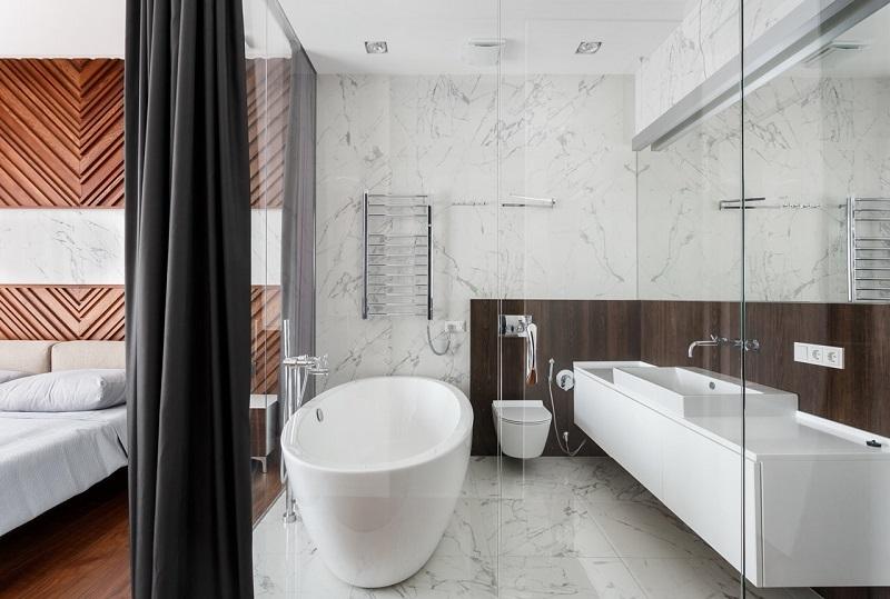 vach kinh phong tam 4 - Vách kính cường lực phòng tắm: thiết kế cách tân liệu có phù hợp văn hóa Á Đông?